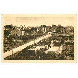 carte postale ancienne 14 RIVA-BELLA. Jeux de Boules rue Victor-Hugo 1933 Pétanque