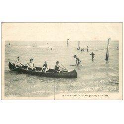 carte postale ancienne 14 RIVA-BELLA. Les Plaisirs de la Mer en Canot