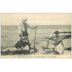carte postale ancienne 14 RIVA-BELLA. Nos futurs Marins