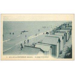 carte postale ancienne 14 RIVA-BELLA. Plage et Cabines