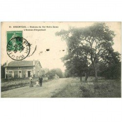 carte postale ancienne 95 ARGENTEUIL. Avenue Hameau du Val Notre Dame 1913