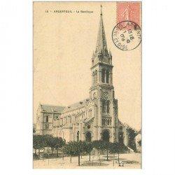 carte postale ancienne 95 ARGENTEUIL. La Basilique 1906. Timbre verso absent