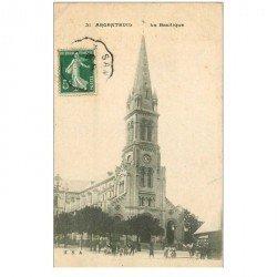 carte postale ancienne 95 ARGENTEUIL. La Basilique 1908