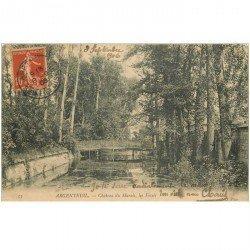 carte postale ancienne 95 ARGENTEUIL. Les Fossés Château du Marais 1906
