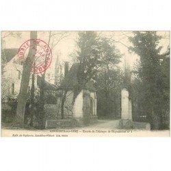 carte postale ancienne 95 ASNIERES SUR OISE. Entrée Abbaye de Royaumont