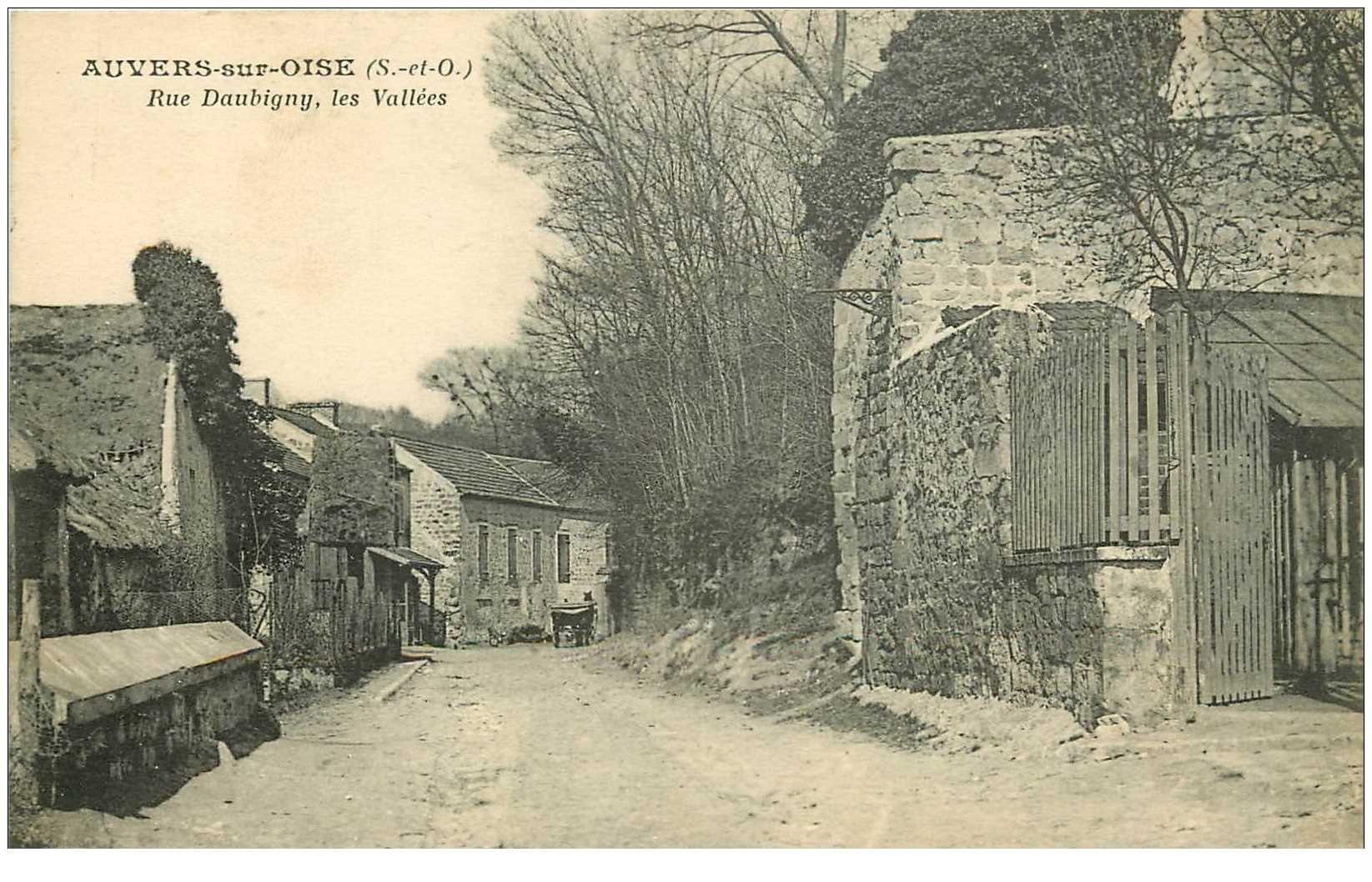 carte postale ancienne 95 AUVERS SUR OISE. Rue Daubigny les Vallées