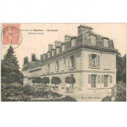carte postale ancienne 95 AVERNES. Le Château 1906