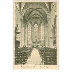 carte postale ancienne 95 BESSANCOURT. L'Eglise intérieur vers 1900
