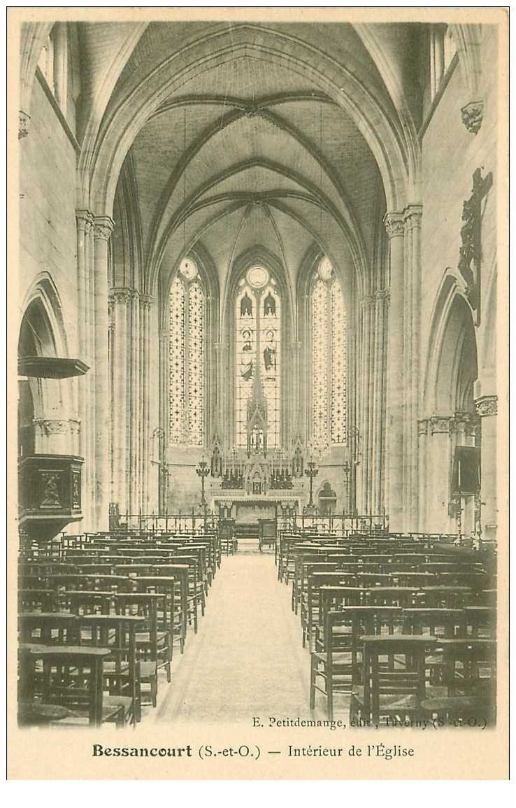 95 bessancourt l 39 eglise int rieur vers 1900 for Interieur 1900