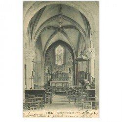 carte postale ancienne 95 CERGY. Choeur de l'eglise 1909
