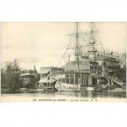 carte postale ancienne 95 ENGHIEN LES BAINS. Ancien Casino en forme de Navire 1930