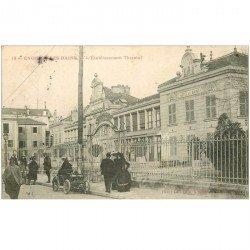 carte postale ancienne 95 ENGHIEN LES BAINS. Etablissement Thermal sur Grande Rue voiture ancienne Didot 1904
