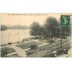 carte postale ancienne 95 ENGHIEN LES BAINS. Jardin du Casino et Lac 1907