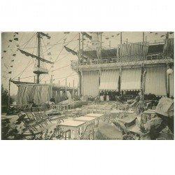 carte postale ancienne 95 ENGHIEN LES BAINS. Le Café Restaurant 1904