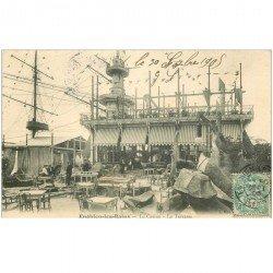 carte postale ancienne 95 ENGHIEN LES BAINS. Le Café Restaurant du Casino 1905