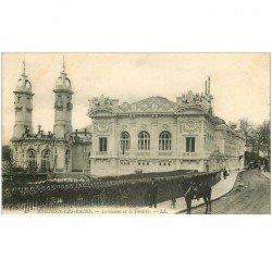 carte postale ancienne 95 ENGHIEN LES BAINS. Le Casino et Théâtre avec Cavalier