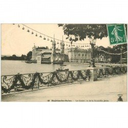 carte postale ancienne 95 ENGHIEN LES BAINS. Le Casino vu de la Nouvelle Jetée 1912