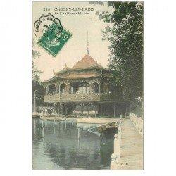 carte postale ancienne 95 ENGHIEN LES BAINS. Le Pavillon chinois 1909