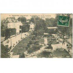 carte postale ancienne 95 ENGHIEN LES BAINS. Panorama pris de la Terrasse 1907