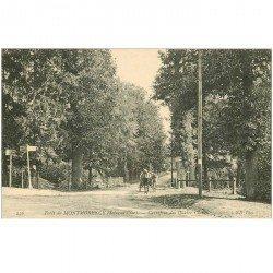 carte postale ancienne 95 MONTMORENCY. Attelage Carrefour des Quatre Chênes