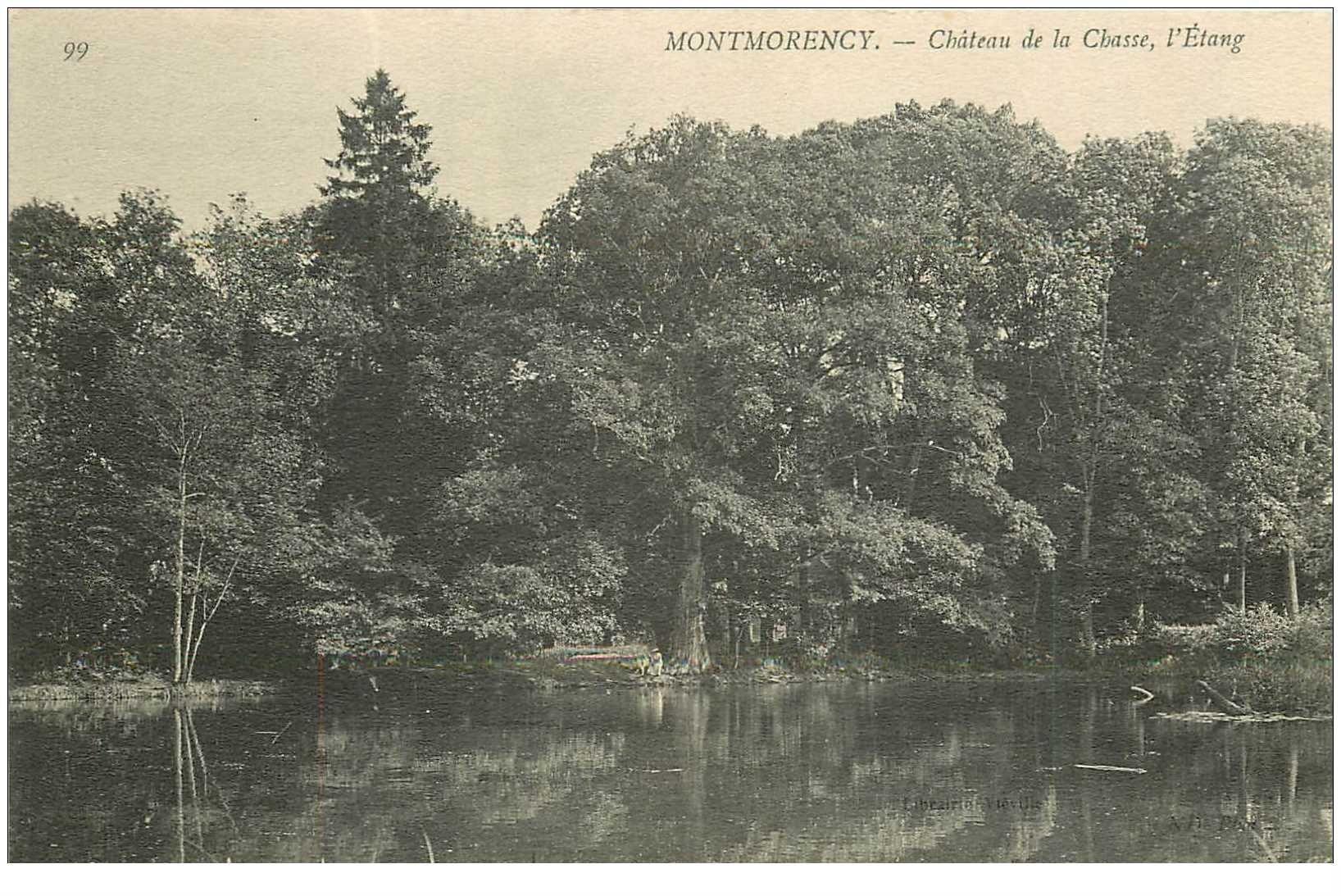 carte postale ancienne 95 MONTMORENCY. Château de la Chasse Etang