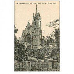 carte postale ancienne 95 MONTMORENCY. Eglise rue du Temple