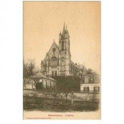 carte postale ancienne 95 MONTMORENCY. Eglise vers 1919
