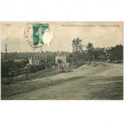 carte postale ancienne 95 MONTMORENCY. Fillettes Boulevard d'Andilly