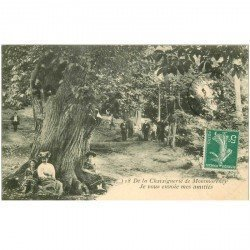 carte postale ancienne 95 MONTMORENCY. La Chataîgneraie superbe animation. Impeccable vers 1909