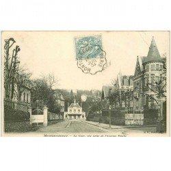 carte postale ancienne 95 MONTMORENCY. La Gare Avenue Emilie 1904