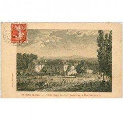 carte postale ancienne 95 MONTMORENCY. Laboureur vers l'Ermitage de JJ Rousseau. Carte papier velin 1908 Maggi