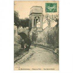 carte postale ancienne 95 MONTMORENCY. Place au Pain rue Saint Victor
