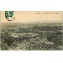 carte postale ancienne 95 MONTMORENCY. Vue sur Sannois et les Carrières 1909
