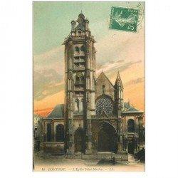 carte postale ancienne 95 PONTOISE. Eglise Saint Maclou 1912