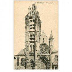 carte postale ancienne 95 PONTOISE. Eglise Saint Maclou le Portail