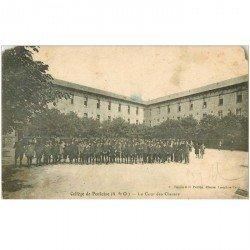 carte postale ancienne 95 PONTOISE. La Cour des Classes du Collège