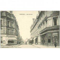 carte postale ancienne 95 PONTOISE. La Rue Carnot Pharmacie