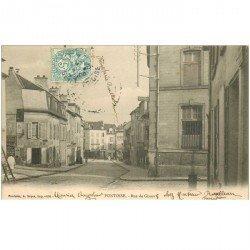 carte postale ancienne 95 PONTOISE. La Rue de Gisors 1905 bureau de l'Octroi