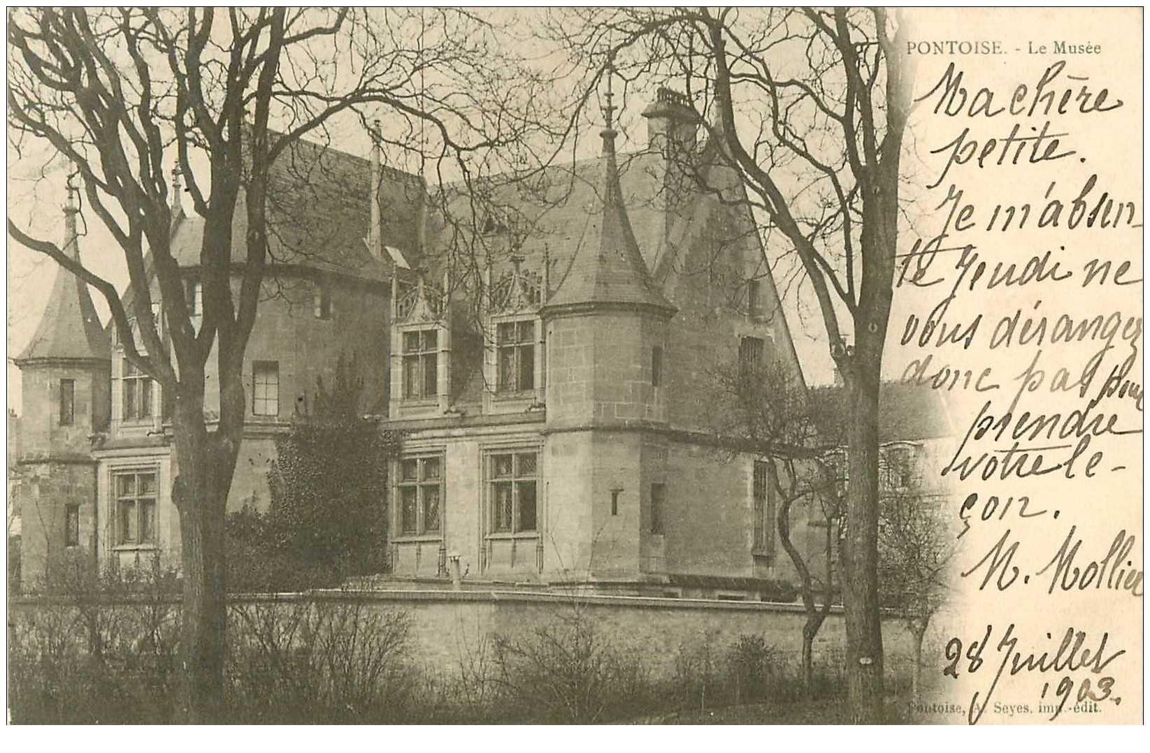 carte postale ancienne 95 PONTOISE. Le Musée 1903
