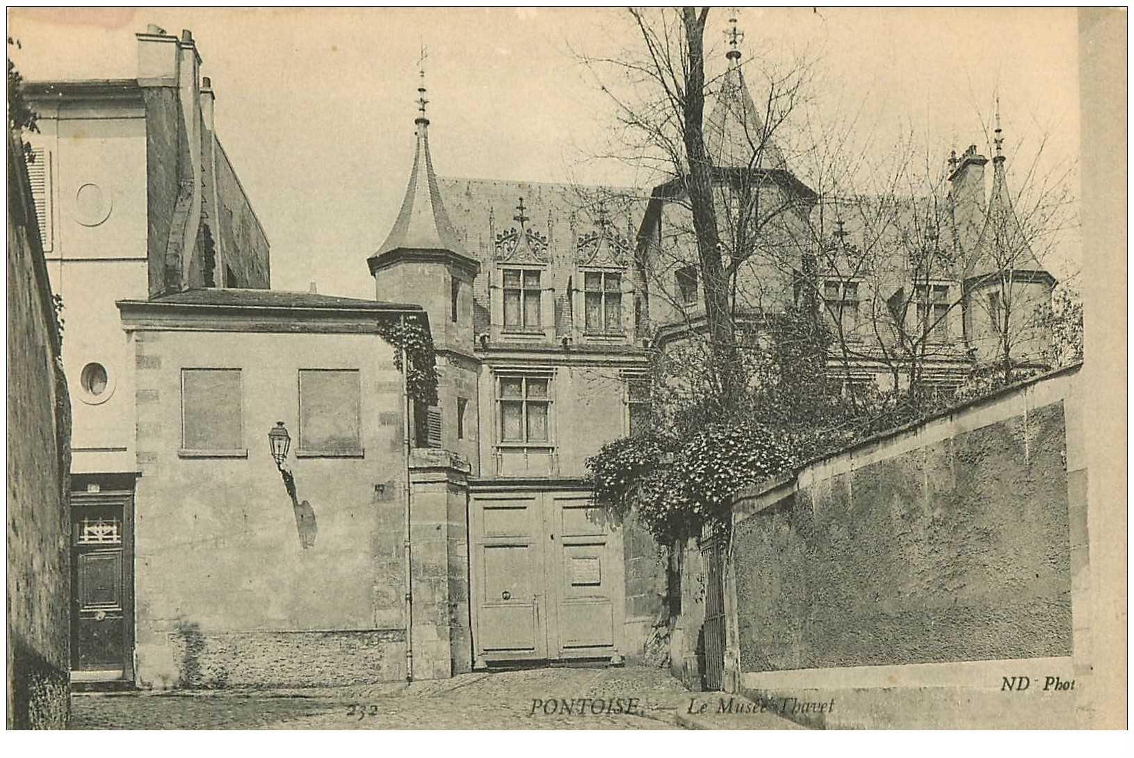 carte postale ancienne 95 PONTOISE. Le Musée Thavet