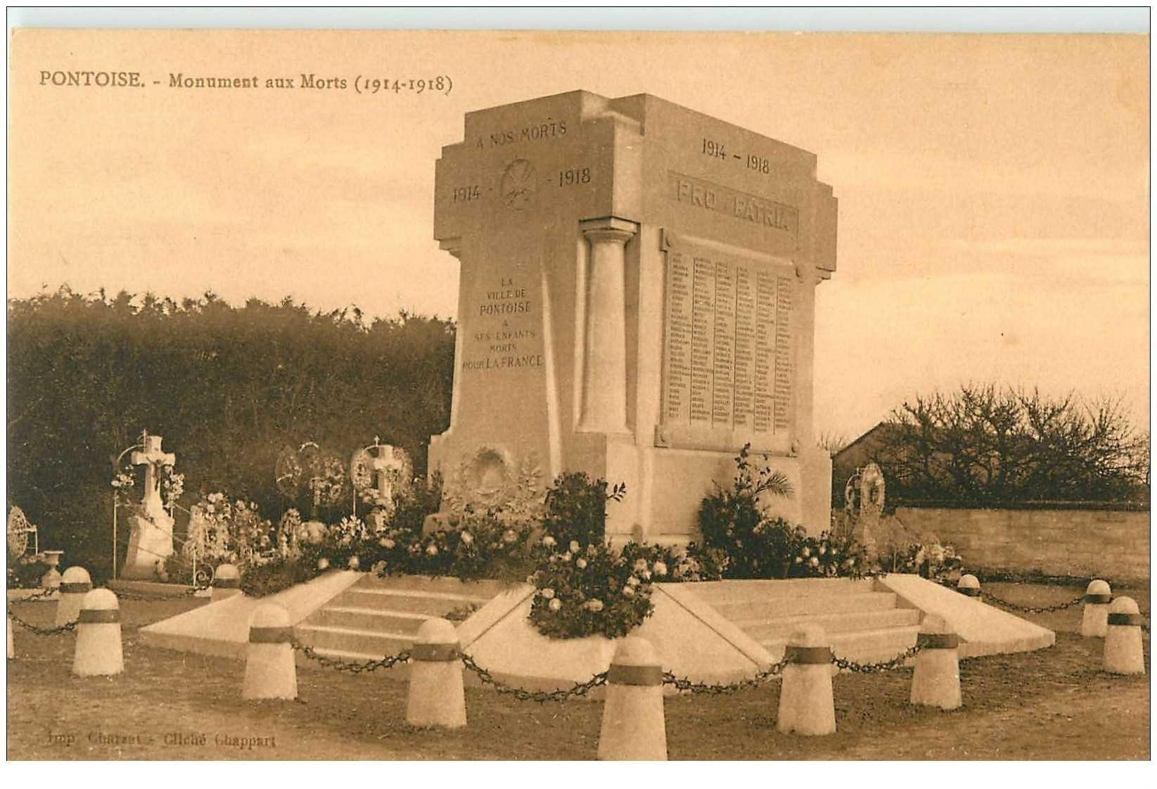carte postale ancienne 95 PONTOISE. Monument aux Morts