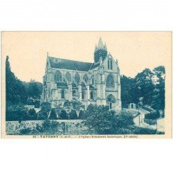 carte postale ancienne 95 TAVERNY. L'Eglise 1934