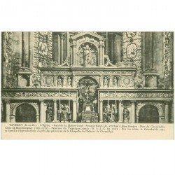 carte postale ancienne 95 TAVERNY. L'Eglise Retable du Maitre Autel