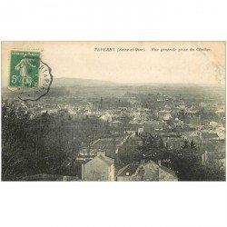 carte postale ancienne 95 TAVERNY. Vue prise du Clocher 1911
