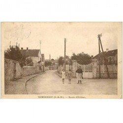 carte postale ancienne 95 THEMERICOURT. Route d'Orléans 1940