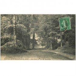 carte postale ancienne 95 VAUCELLES. Une Allée du Parc