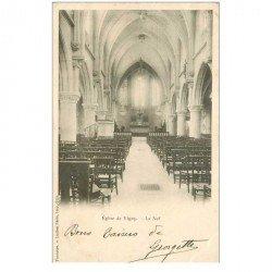 carte postale ancienne 95 VIGNY. Eglise Saint Médard la Nef 1904