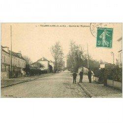 carte postale ancienne 95 VILLIERS LE BEL. Quartier de l'Espérance Bal et Restaurant Bertolle