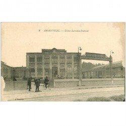carte postale ancienne K. 95 ARGENTEUIL. Usines Lorraine-Dietrich. Blancs sur les bords... 1918