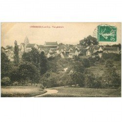 carte postale ancienne K. 95 CHERENCE. Vue du Village 1913